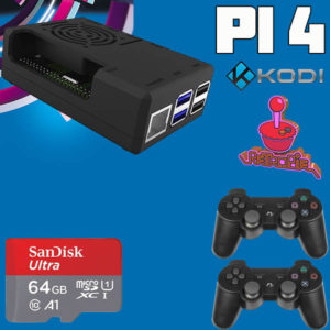 Miniconsola Raspberry pi 4 64gb 2 mandos Ps3